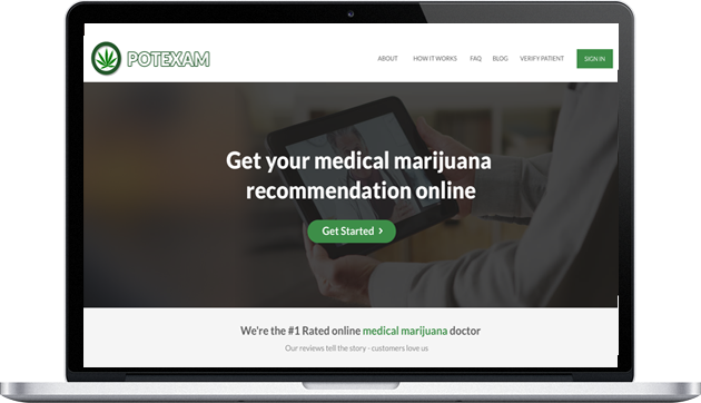 Get your medical marijuana recommendation online