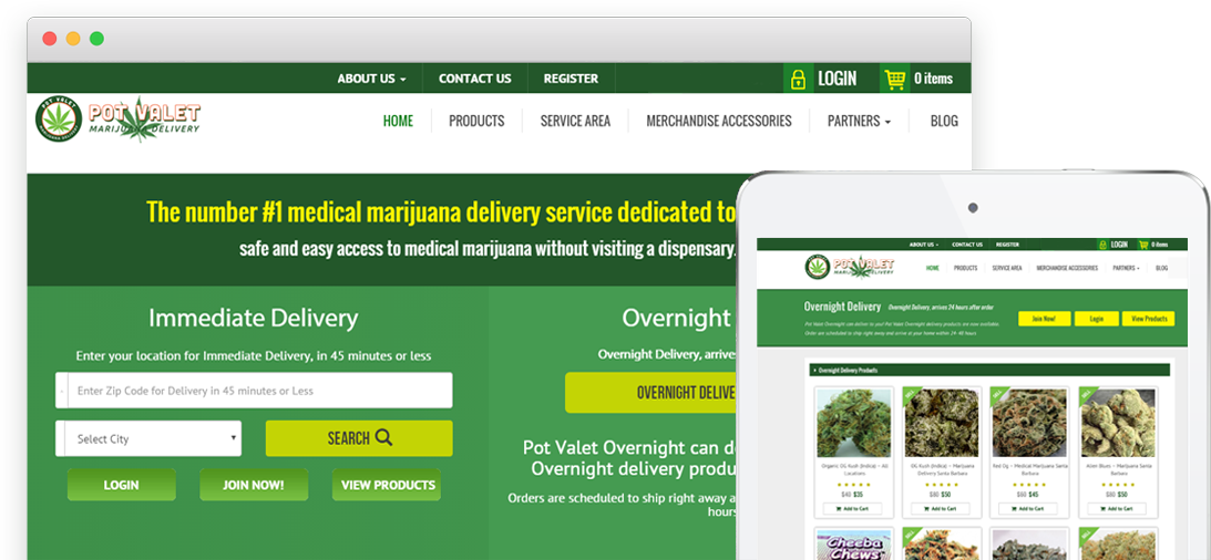 potvalet medical marijuana delivery service